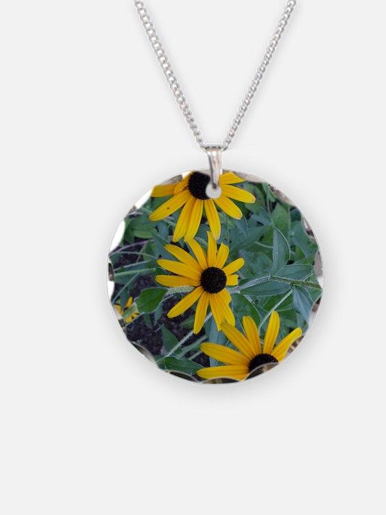 BlackEyedSusaniPadCase Necklace Circle Charm