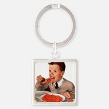Creepy-Ginger-Kid Square Keychain