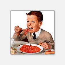 "Creepy-Ginger-Kid Square Sticker 3"" x 3"""