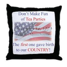 TeaPartyShirt Throw Pillow