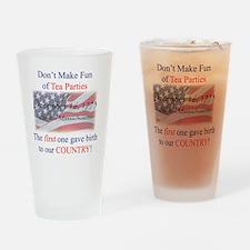 TeaPartyShirt Drinking Glass