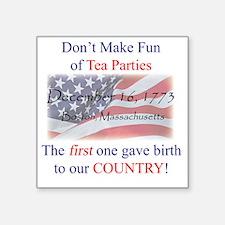 "TeaPartyShirt Square Sticker 3"" x 3"""