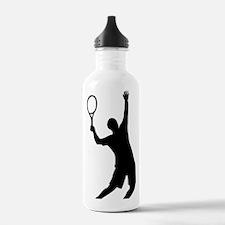 tennis_aufschlag Water Bottle