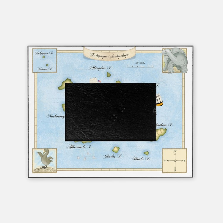Galapagos Map Picture Frame