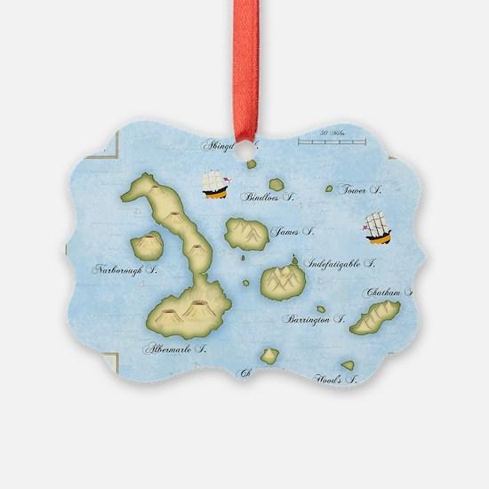 Galapagos Map Ornament