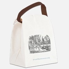 teaparty-dark Canvas Lunch Bag
