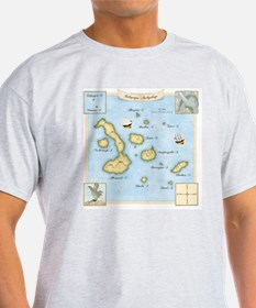 Galapagos Map square T-Shirt