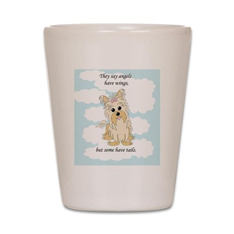 Angels with Tails-Blue Shot Glass