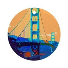Funny Golden gate bridge Ornament (Round)