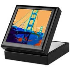 Cute San francisco travel Keepsake Box