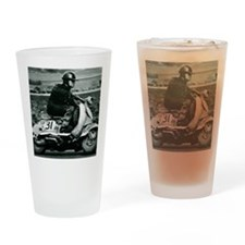 Scooter Race Drinking Glass