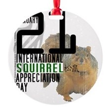 Squirrel Appreciation Day Shirt Ornament