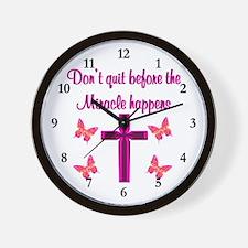 EXPECT MIRACLES Wall Clock