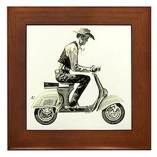 Scooter_Cowboy copy Framed Tile