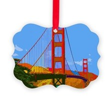 Unique Golden gate Ornament