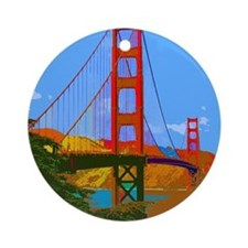Cute Golden gate bridge Ornament (Round)