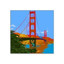 """Unique San francisco bay Square Sticker 3"""" x 3"""""""