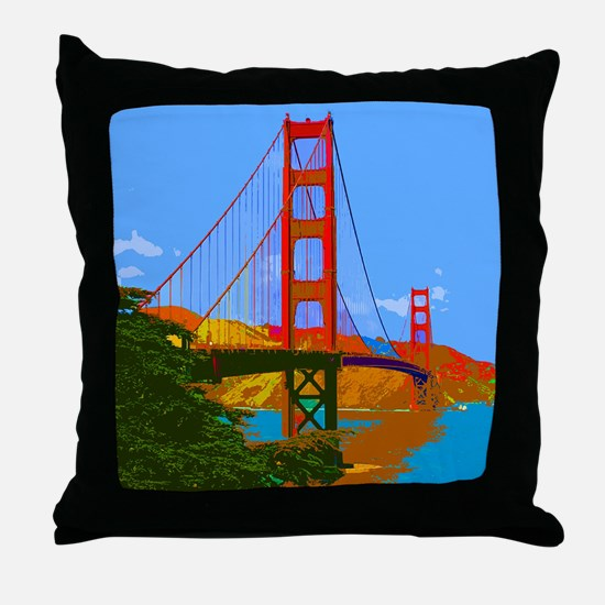 Unique Golden gate bridge Throw Pillow