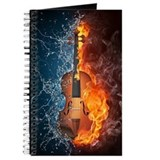 Fire and water violin Journals & Spiral Notebooks