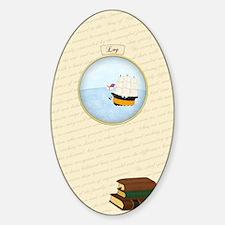Log Journal Sticker (Oval)