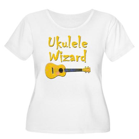 ukulele wizar Women's Plus Size Scoop Neck T-Shirt