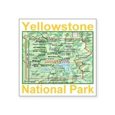 "yellowstone_np_map_transpar Square Sticker 3"" x 3"""