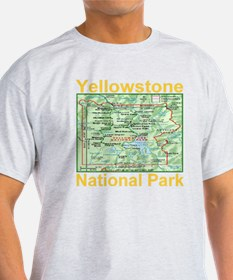 yellowstone_np_map_transparent T-Shirt