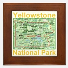 yellowstone_np_map_transparent Framed Tile