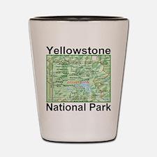 yellowstone_np_map_green Shot Glass