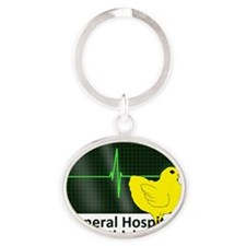 1gen hosp chickk Oval Keychain