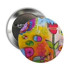 """Love Tulip 2.25"""" Button"""