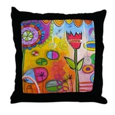 Love Tulip Throw Pillow