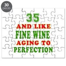 Funny 35 And Like Fine Wine Birthday Puzzle