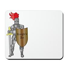Knights-Art-image-logo-and-slogan-white- Mousepad