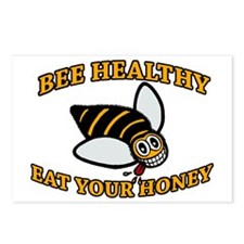 2-bee health new design y Postcards (Package of 8)