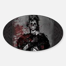 Beautiful Zombie Sticker (Oval)
