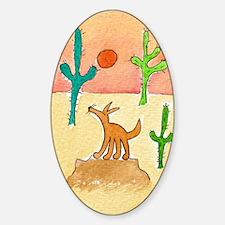 desert coyote 5x7 Decal
