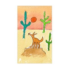 desert coyote 5x7 Decal