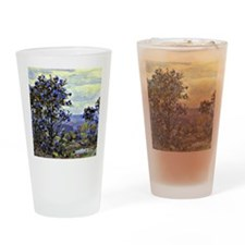Mountain Laurel in Bloom, painting  Drinking Glass