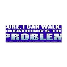 BreathingProblemBumper Car Magnet 10 x 3