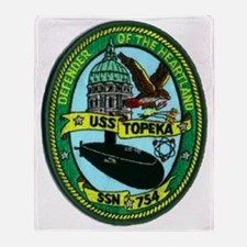 topeka patch transparent Throw Blanket