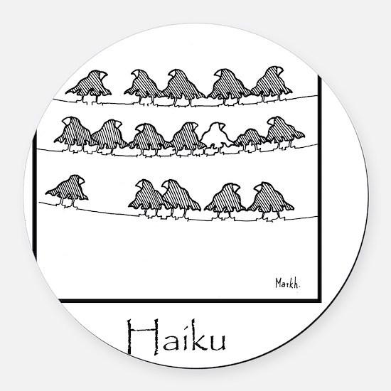 2-Haiku 10x10 Template Round Car Magnet