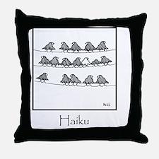 2-Haiku 10x10 Template Throw Pillow