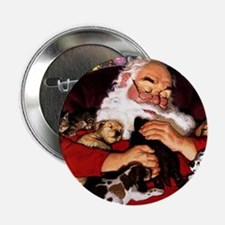 "santa-claus-napping-christmas-wallpap 2.25"" Button"