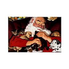 santa-claus-napping-christmas-wal Rectangle Magnet