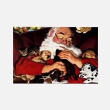 santa-claus-napping-christmas-wal Rectangle Magnet