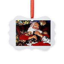 santa-claus-napping-christmas-wal Ornament