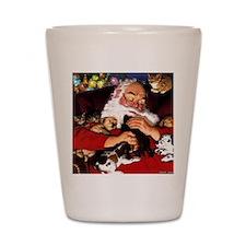 santa-claus-napping-christmas-wallpaper Shot Glass