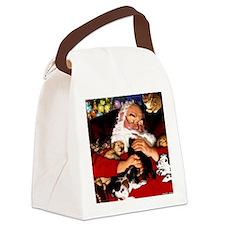 santa-claus-napping-christmas-wal Canvas Lunch Bag