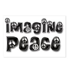 imagine peace 5 Postcards (Package of 8)